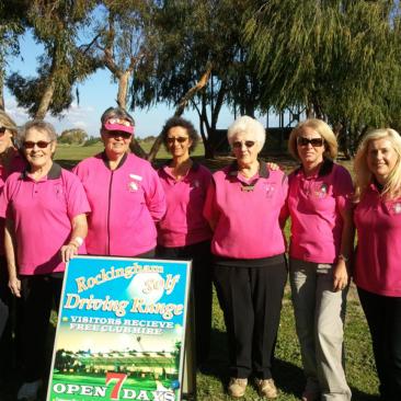 Group fun at Rockingham Golf Driving Range